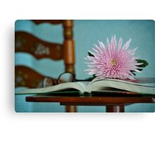 Book of Flowers Canvas Print
