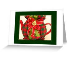 Christmas Plaid Tea Cozy Greeting Card