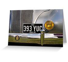 1937 Cadillac Greeting Card