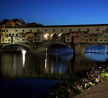 An evening in Ponte Vecchio by annalisa bianchetti