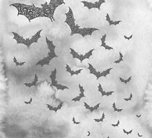 Swirly Bat Swarm by CarolinaMatthes