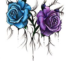 Decaying Tattoo Roses by Layce Art