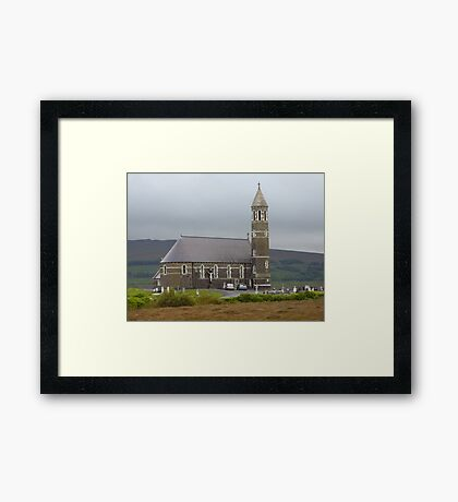 The Lone Church Framed Print