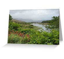 View up the river. Greeting Card