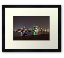 Toronto Skyline at night Framed Print