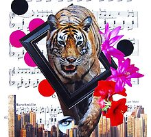 Eye of my tiger by kikicollagist