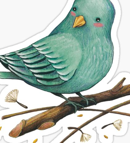 Little blue bird Sticker