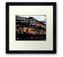 valley below the rock Framed Print