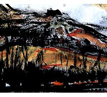 valley below the rock Photographic Print