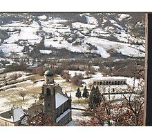 UNA CHIESETTA E UN PICCOLO CAMPOSANTO .località BARDI  italia. VETRINA rb explore 31 gennaio 2013 --    Photographic Print