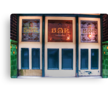 Bar Door (In Colour)  Canvas Print