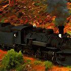 Canyon Train by artstoreroom