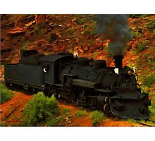 Canyon Train Photographic Print