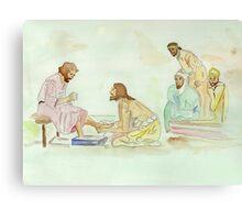 Jesus Washes the Apostles Feet Canvas Print