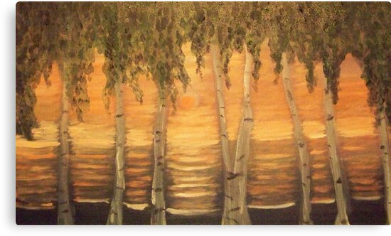 Birches in the Sun by Holly Martinson