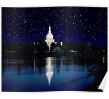 Starry Night Idaho Falls Temple 20x24 Poster