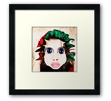 Happy Warped Christmas Elf  Framed Print