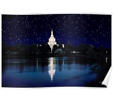 Starry Night Idaho Falls Temple 20x30 Poster