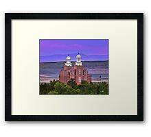 Logan Temple Sunset 20x24 Framed Print