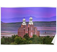 Logan Temple Sunset 20x30 Poster
