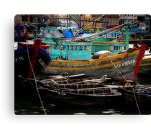 Vietnam fishing boats Canvas Print