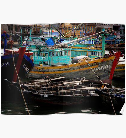 Vietnam fishing boats Poster
