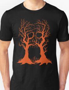 Haunted Halloween Tree Unisex T-Shirt