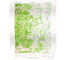 USGS Topo Map Oregon Monroe 282728 1957 62500 Poster