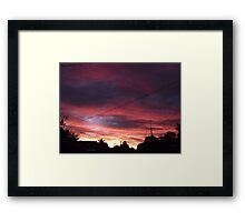 A Winter Sky Framed Print