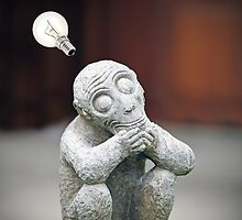 Thinker revisit. by Gwoeii