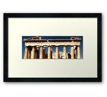 Acropolis HDR Framed Print