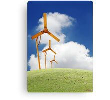 Windmill in the horizon. Canvas Print