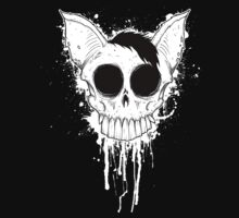Bat Skull - Black And White by NelsonG