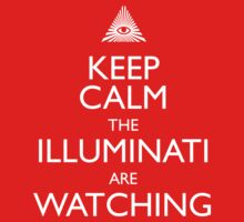 Keep Calm the Illuminati are watching Kids Clothes