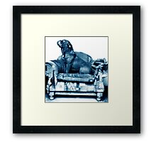 Blue Couch Framed Print