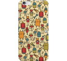 Retro robots. iPhone Case/Skin