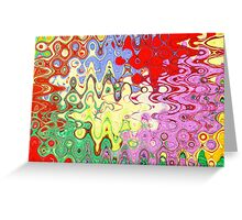 Bubble Abstract Greeting Card