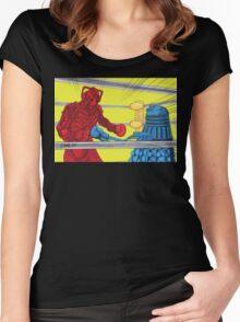 Rockem Sockem WhoBots Women's Fitted Scoop T-Shirt