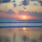 Another day over - Legian Beach by Robyn Bradshaw
