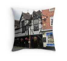 The Guildhall, Much Wenlock Throw Pillow