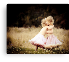 Ruby & Poppy Canvas Print