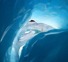 ice cave II  fox glacier  south westland  nz by rina  thompson