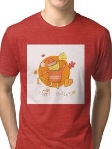 Happy autumn. Tri-blend T-Shirt