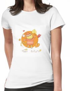 Happy autumn. Womens Fitted T-Shirt