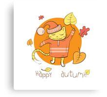 Happy autumn. Canvas Print