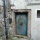 Blue door from a house up the hill by bubblehex08