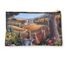 Rural Country Farm Raccoon Squirrel Landscape Studio Pouch