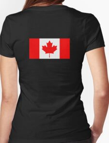 "Canadian Flag, National Flag of Canada, Canada, ""A Mari Usque Ad Mare""  Pure & Simple on Black,  T-Shirt"
