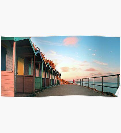 Cornish Beach Huts Poster