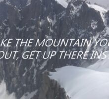 florence and the machine mountain lyrics Sticker
